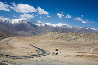 Scenery of the Himalayan desert and mountains on 3rd June 2009 on the way to Leh from Hemis and Ulley Valley, Ladakh, Jammu & Kashmir, Jammu & Kashmir, Indian Himalayas. Photo by Suzanne Lee