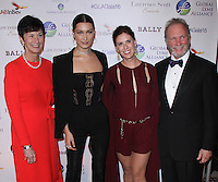 NEW YORK, NY-October 13:Karen Peetz, Bella Hadid, Heather Glass and Arthur J. Mirante II at the Global Lyme Alliance's 2016 United For A Lyme-Free World Gala at Cipriani 42nd Street in New York.October 13, 2016. Credit:RW/IMerdiaPunch