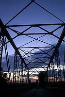 Truss Bridge at Dusk
