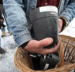 Activists LaVoy Finicum displays one of four FBI surveillance cameras found at a power station near the Malheur National Wildlife Reserve during a press conference on January 16, 2016 in Burns, Oregon.  Ammon Bundy and about 20 other protesters took over the refuge on Jan. 2 after a rally to support the imprisoned local ranchers Dwight Hammond Jr., and his son, Steven Hammond.   ©2016. Jim Bryant Photo. All Rights Reserved.