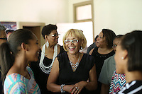 Community leader Mozell Booker in her community of Fluvanna County, Va. Photo/Andrew Shurtleff