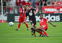 11 September 2010: D.C. United midfielder Stephen King #20 and Toronto FC midfielder Joseph Nane #15 in action during a game between DC United and Toronto FC at BMO Field in Toronto..DC United won 1-0..