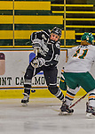 1 February 2015: Providence College Friar Forward Brittney Thunstrom, a Junior from Coon Rapids, MN, takes a shot in the first period against the University of Vermont Catamounts at Gutterson Fieldhouse in Burlington, Vermont. The Friars fell to the Lady Cats 7-3 in Hockey East play. Mandatory Credit: Ed Wolfstein Photo *** RAW (NEF) Image File Available ***