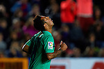 FC Barcelona's Thiago Alvcantara reacts during the Spanish league football match Levante UD vs FC Barcelona on April 14, 2012 at the Ciudad de Valencia Stadium in Valencia. (Photo by Xaume Olleros/Action Plus)