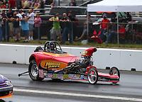 Jun 4, 2016; Epping , NH, USA; NHRA comp eliminator driver Lee Zane during qualifying for the New England Nationals at New England Dragway. Mandatory Credit: Mark J. Rebilas-USA TODAY Sports