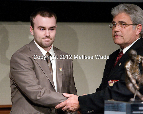 Jack Connolly (UMD), Wally Olson - The 2012 Hobey Baker Award ceremony was held at MacDill Air Force Base on Friday, April 6, 2012, in Tampa, Florida.