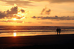 Central America, Costa Rica, Playa Esterillos Este. Sunset scenes at Playa Esterillos Este from Alma del Pacifico.