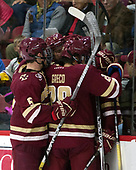 Casey Fitzgerald (BC - 5), David Cotton (BC - 17), Ron Greco (BC - 28) - The Harvard University Crimson defeated the visiting Boston College Eagles 5-2 on Friday, November 18, 2016, at Bright-Landry Hockey Center in Boston, Massachusetts.{headline] - The Harvard University Crimson defeated the visiting Boston College Eagles 5-2 on Friday, November 18, 2016, at Bright-Landry Hockey Center in Boston, Massachusetts.