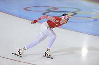 SCHAATSEN: SALT LAKE CITY: Utah Olympic Oval, 14-11-2013, Essent ISU World Cup, training, Denis Yuskov (RUS), ©foto Martin de Jong