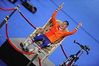 SPEED SKATING: INZELL: 04-12-2015, Max Aicher Arena, ISU World Cup, 3000m Ladies, Marije Joling (NED), hot seat, ©foto Martin de Jong