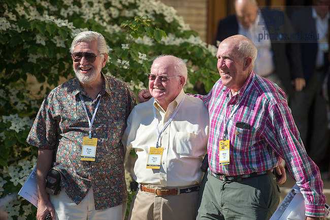June 5, 2015; Members of the 50-year-club pose for photos after Mass, Reunion 2015. (Photo by Matt Cashore/University of Notre Dame)