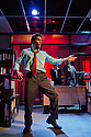 """London, UK. 17/07/2011.  """"Mongrel Island"""", by Ed Harris, and presented at the Soho Theatre, offers a fresh, cynical and offbeat perspective on how the workplace can strip away our humanity. Shane Zaza as Elvis. Photo credit should read Jane Hobson"""
