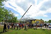 The New School beam raising and tour 4/19/2017