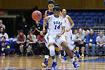 20 March 2015: Duke's Ka'lia Johnson. The Duke University Blue Devils hosted the University at Albany Great Danes at Cameron Indoor Stadium in Durham, North Carolina in a 2014-15 NCAA Division I Women's Basketball Tournament first round game.