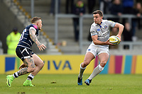 George Ford of Bath Rugby in possession. Aviva Premiership match, between Sale Sharks and Bath Rugby on May 6, 2017 at the AJ Bell Stadium in Manchester, England. Photo by: Patrick Khachfe / Onside Images