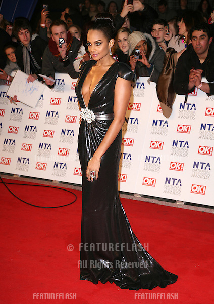 Alesha Dixon arriving for the National Television Awards 2011, at the O2, London. 26/01/2011  Picture By: Alexandra Glen / Featureflash