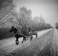 Gomel, Belarus, Ocober 1995..The explosion at the Chernobyl Nuclear Power Plant on April 26 1986 was the worst nuclear accident in history..Many older residents have returned to live illegally in their homes in the closed and radioactive zone surrounding Chernobyl..