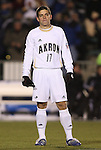 11 December 2009: Akron's Ben Speas. The University of Akron Zips defeated the University of North Carolina Tar Heels 5-4 on penalty kicks after the game ended in a 0-0 overtime tie at WakeMed Soccer Stadium in Cary, North Carolina in an NCAA Division I Men's College Cup Semifinal game.