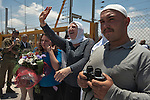 Druze react at Quneitra border-crossing in Israel-Syria border, upon the return of Druze students from their studies at Damascus University in Syria.