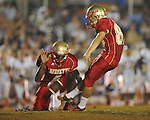 Lafayette High's Tyler Jackson (87) kicks against Oxford at William L. Buford Stadium in Oxford, Miss. on Friday, September 2, 2011. Lafayette won 40-12