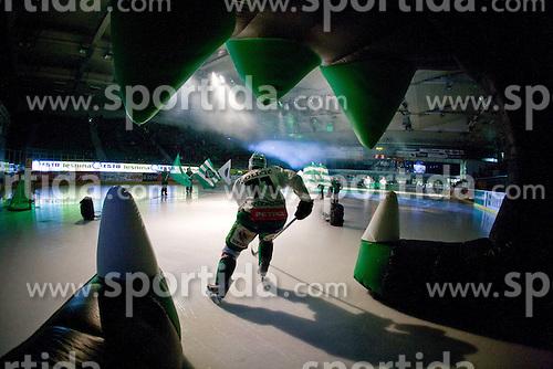 Bostjan Golicic (HDD Tilia Olimpija, #71) before ice-hockey match between HDD Tilia Olimpija and EHC Liwest Black Wings Linz in 18th Round of EBEL league, on November 5, 2010 at Hala Tivoli, Ljubljana, Slovenia. (Photo By Matic Klansek Velej / Sportida.com)