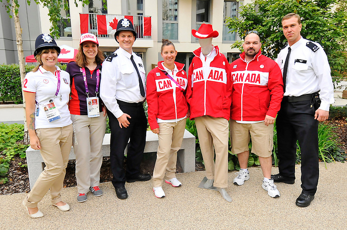 LONDON, ENGLAND – 08/26/2012:  Kirby Cote, Jana Murphy and Tony Walby at Canada's Pep-Rally before the London 2012 Paralympic Games. (Photo by Matthew Murnaghan/Canadian Paralympic Committee)
