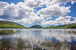Summer clouds over Eagle Lake, Acadia National Park, ME