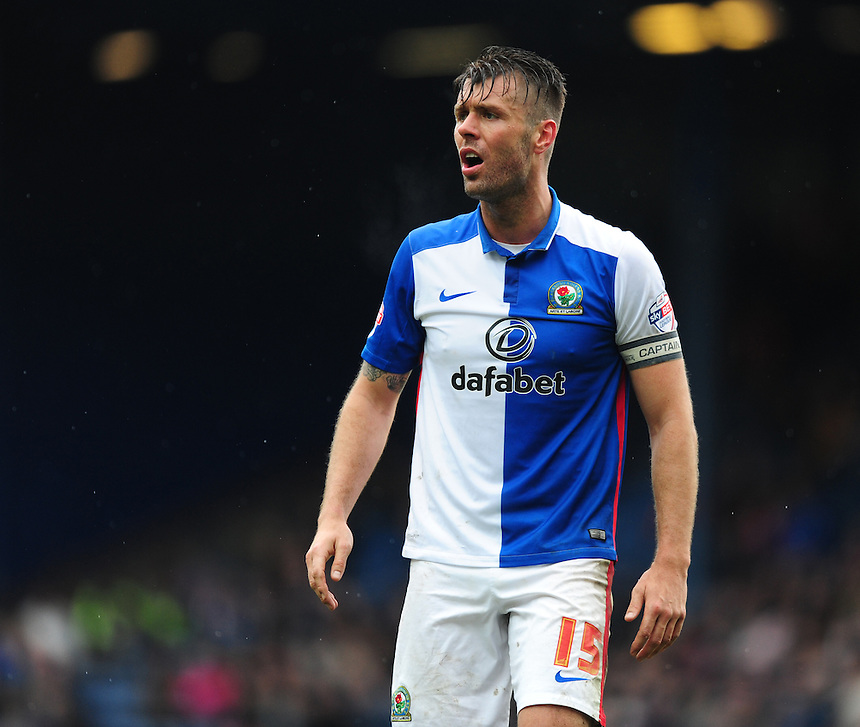 Blackburn Rovers' Elliott Ward<br /> <br /> Photographer Chris Vaughan/CameraSport<br /> <br /> Football - The Football League Sky Bet Championship - Blackburn Rovers v Preston North End - Saturday 2nd April 2016 - Ewood Park - Blackburn<br /> <br /> &copy; CameraSport - 43 Linden Ave. Countesthorpe. Leicester. England. LE8 5PG - Tel: +44 (0) 116 277 4147 - admin@camerasport.com - www.camerasport.com