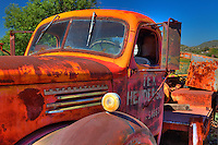 Rusted Vintage Tex Henderson International Truck - Motor Transport Museum - Campo, CA