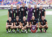 The USWNT lines up before the game at Red Bull Arena in Harrison, NJ.  The USWNT defeated Mexico, 1-0.