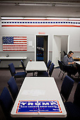 PHOENIX, ARIZONA, USA, 19/10/2016:<br /> Campaign for Donald Trump at the republican party headquarters.<br /> Arizona, traditionally very republican state, has become a swing state with both main candidates equally scoring in polls. (Photo by Piotr Malecki / Napo Images)