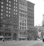 Pittsburgh PA:  View of the Gamble Building on Liberty Avenue in Pittsburgh - 1949.  Brady Stewart Studio occupied the 4th floor of the building for 20+ years.  The building was also home for Lando Advertising, one of the excellent advertising agencies during the golden age of Pittsburgh Advertising.