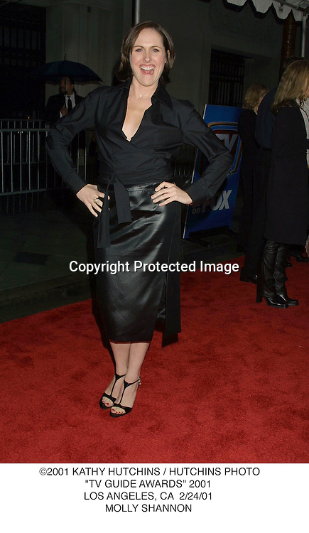 "©2001 KATHY HUTCHINS / HUTCHINS PHOTO.""TV GUIDE AWARDS"" 2001.LOS ANGELES, CA  2/24/01.MOLLY SHANNON"