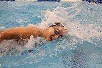 18 February 2016: Notre Dame's Ellen Berdusco competes in the Women's 500 Freestyle preliminary Heat 2. The 2016 Atlantic Coast Conference Swimming and Diving Championships were held at the Greensboro Aquatic Center in Greensboro, North Carolina from February 17-27, 2016.