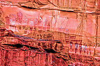 Barrier Canyon rock art panel<br /> Ancient Native American rock art<br /> Life size or large anthropomorphs