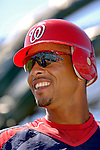 15 March 2006: Royce Clayton, infielder for the Washington Nationals, prepares for batting practice prior to a Spring Training game against the New York Mets. The Mets defeated the Nationals 8-5 at Space Coast Stadium, in Viera, Florida...Mandatory Photo Credit: Ed Wolfstein..