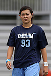 09 September 2011: North Carolina's Brooke Elby. The University of North Carolina Tar Heels defeated the University of North Carolina Greensboro Spartans 2-0 at Koskinen Stadium in Durham, North Carolina in an NCAA Division I Women's Soccer game.