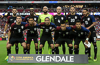 Glendale, AZ - June 25, 2016: The U.S. Men's National team take on Colombia in the Third Place match at the 2016 Copa America Centenario at University of Phoenix Stadium.