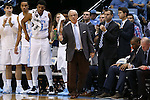 06 November 2015: UNC head coach Roy Williams. The University of North Carolina Tar Heels hosted the Guilford College Quakers at the Dean E. Smith Center in Chapel Hill, North Carolina in a 2015-16 NCAA Men's Basketball Exhibition game. UNC won the game 99-49.