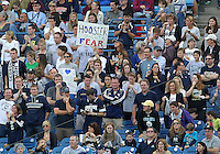 HOOVER, AL - DECEMBER 09, 2012: Fans of Georgetown University during the NCAA 2012 Men's College Cup championship, at Regions Park, in Hoover , AL, on Sunday, December 09, 2012.