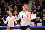 03 DEC 2011:  Katie Habeck (8) of Concordia University St. Paul celebrates a point against Cal State San Bernardino during the Division II Women's Volleyball Championship held at Coussoulis Arena on the Cal State San Bernardino campus in San Bernardino, Ca. Concordia St. Paul defeated Cal State San Bernardino 3-0 to win the national title. Matt Brown/ NCAA Photos