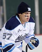 Matt Mangene (Maine - 57) - The University of Maine Black Bears defeated the University of New Hampshire Wildcats 5-4 in overtime on Saturday, January 7, 2012, at Fenway Park in Boston, Massachusetts.