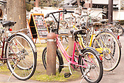Bicycles in the trendy shopping district of Sakae, Nagoya.