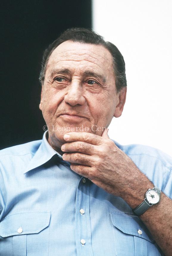 Alberto Sordi è stato un attore cinematografico, regista, sceneggiatore doppiatore italiano. Importante interprete della storia del cinema italiano. Venezia, settembre 1995. © Leonardo Cendamo