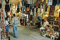 Tunisia.  Tunis Medina.  Souk.  Clothing, Stuffed Animals, Hassocks.