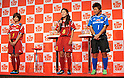 (L to R) Nahomi Kawasumi (JPN), Homare Sawa (JPN), Ayumi Kaihori (JPN), September 14, 2011 - Football / Soccer : press conference for &quot;King Cup&quot; at Shinagawa Tokyo, Japan. (Photo by Atsushi Tomura/AFLO SPORT) [1035]