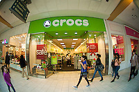 A Crocs store at the Queens Center Mall in the borough of Queens in New York over the Black Friday weekend, on Saturday, November 26, 2011. Sales for Black Friday this year show a 6.6 percent increase from 2010 with retailers hoping that the increased numbers and foot traffic bodes well for the Christmas season. Many stores were open extra hours, some as early as 9PM on Thanksgiving, contributing to the extra foot traffic.  (© Richard B. Levine)