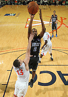 Feb. 16, 2011; Charlottesville, VA, USA; Duke Blue Devils guard Nolan Smith (2) shoots over Virginia Cavaliers guard Sammy Zeglinski (13) during the second half of the game at the John Paul Jones Arena. The Duke Blue Devils won 56-41.  Credit Image: © Andrew Shurtleff