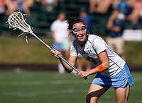Jenn Russell (9) of North Carolina looks for a pass during their game at St. Stephens and St. Agnes High School in Alexandria, VA.  North Carolina defeated Cornell, 13-7.