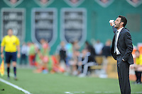 Washington D.C. - July 30, 2014:  D.C. Untied head coach Ben Olsen. D.C. United defeated the Toronto FC 3-1 during a Major League Soccer match for the 2014 season at RFK Stadium.